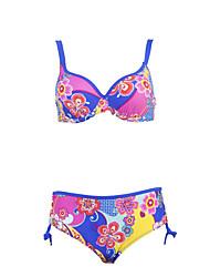 Bikinis Aux femmes Fleur Soutien-gorge Rembourré / Soutien-gorge à Armatures Bandeau Polyester