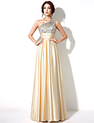Formal Evening Dress A-line One Shoulder Floor-length