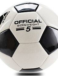 Football(Blanc Noir,PVC)Haute élasticité Durable