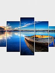 Impression sur Toile Célèbre Paysage Classique Méditerranéen,Cinq Panneaux Toile Toute Forme Imprimer Art Décoration murale For