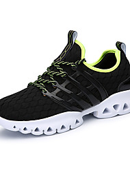 Men's Athletic Shoes Spring Summer Fall Couple Shoes Light Soles PU Casual Lace-up Black Green White