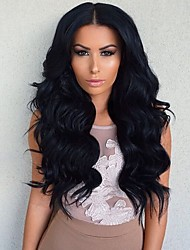 Cheap On Sale Body Wave Long Brazilian Human Virgin Hair Wholesale Glueless Lace Front Wig For Black Woman