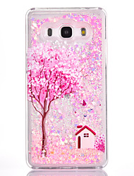 For Samsung Galaxy G530 Case Cover Flower Tree House Pattern Small Fresh Series PC Material Love Quicksand Flash Powder Phone Case