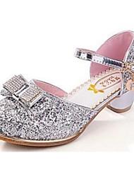 Girl's Heels Comfort PU Dress Pink Silver Gold