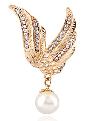 European and American fashion jewelry set auger angel wing of the pearl brooches xionghua chain.scarves buckle # 0212