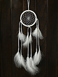 2PC Dream Catcher Decor Hanging With White Feathers Hanging Decoration Dreamcatcher Net India Style Hourse Decoration