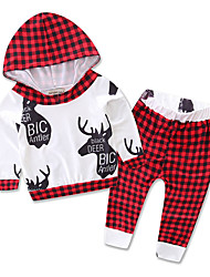 Girl Going out Casual/Daily Sports Print Sets,Cotton Polyester Spring Fall Long Sleeve Clothing Set