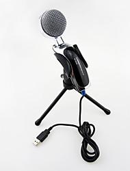2017 nova usb útil de alta qualidade microfone condensador estéreo com fio quente com clipe de titular para conversar karaoke pc portátil