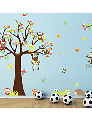 Animals Romance Fashion Wall Stickers Plane Wall Stickers Decorative Wall StickersPaper Material Home Decoration Wall Decal