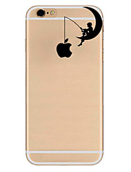 Für Ultra dünn Muster Hülle Rückseitenabdeckung Hülle Spaß mit dem Apple Logo Weich TPU für AppleiPhone 7 plus iPhone 7 iPhone 6s Plus/6
