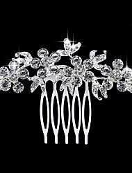 Delicate Korean Brides Combs Twist Inserted Comb Studded Drill Bride Headdress Wedding Jewelry 1PCS