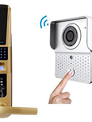 ACTOP Wireless Video Intercom Doorbell Fingerprint Lock Set Ding Dong Anti-Theft Doorbell   WIFI-601TX-8S003HB8001