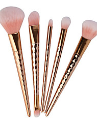5 Contour Brush Makeup Brush Set Blush Brush Eyeshadow Brush Concealer Brush Powder Brush Foundation Brush Nylon Synthetic HairFull