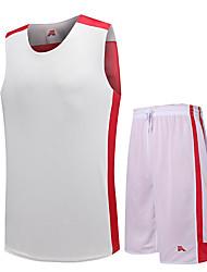 Ensemble de Vêtements/Tenus(Blanc Vert Rouge Noir) -Basket-ball-Sans manche-Homme