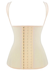 Burvogue Women's Latex Shaper 4 Steel Boned Corset Waist Cincher Vest