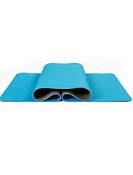 TPE Йога коврики Экологию Без запаха 6 мм Синий Зеленый Оранжевый Фиолетовый Черный Other