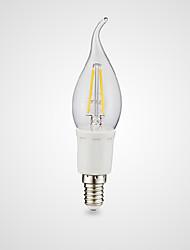 3W E12 LED лампы накаливания B 4 COB 380/300 lm Тёплый белый Холодный белый AC 110-130 V 1 шт.
