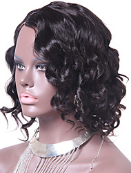 Short Curly Style Brazilian U Part Wig Virgin Human Hair Natural Color 10Inch 130% Density 1*4Inch Right Part Upart Wigs Accept Custom