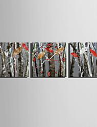 Modern/Zeitgenössisch Leger Anderen Wanduhr,Quadratisch Leinwand 25 * 25 * 3 Drinnen Uhr