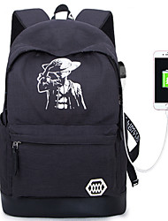 Sports Casual Outdoor Backpack Unisex Oxford Cloth Black