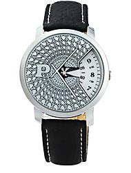 Men's Dress Watch Fashion Watch Quartz Leather Band Black