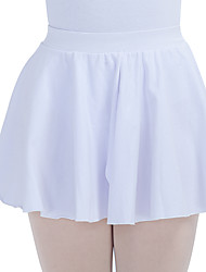 Ballet Skirts Women's Children's Training Cotton Lycra Ruffles Split Front 1 Piece Skirt
