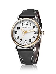 REBIRTH Pánské Módní hodinky Náramkové hodinky Křemenný Voděodolné Slitina Kapela Běžné nošení Černá Hnědá Zlatá Bílá Černá Hnědá