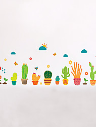 Wall Stickers Wall Decals Style Unreal Colour Pot PVC Wall Stickers