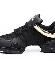Women's Dance Shoes Cotton Cotton Modern Split Sole Low Heel Practice Beginner Indoor Outdoor Performance Black Red Gold Customizable