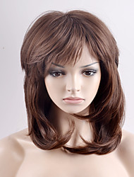 New long paragraph chestnut pear flower head oblique Liu Hai high temperature wire wig