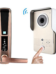 ACTOP Smart Home Security Wifi Video Doorbell Intercom Alarm Function Suppot IOS And Andriod  Fingerprint and Password Door Lock   WIFI-602