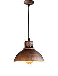 Max 60W Retro Industrial Simple Loft Pendant Lights Metal Dining Room Kitchen Bar Cafe Hallway Balcony Light Fixture