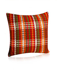 1 pcs Linen Pillow CaseTextured Plaid Traditional/Classic with Middle Size (45*45cm)