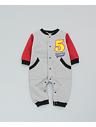 Baby Casual/Daily Print One-Pieces,Rayon Spring Long Sleeve