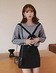 signer 2016 jupe lâche chandail chandail sauvage hiver nouveau costume avec ceinture