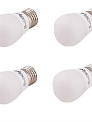 3W E27 Ampoules Globe LED G80 SMD 5730 240 lm Blanc Chaud Décorative V 4 pièces