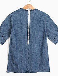 Girl's Casual/Daily Solid Dress,Rayon Spring Fall Half Sleeve