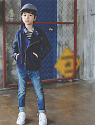 Boy's Casual/Daily Solid Jacket & CoatPolyester Fall Blue