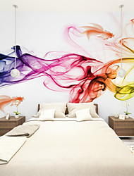 JAMMORY Art DecoWallpaper For Home Wall Covering Canvas Adhesive required Mural Color Smoke XL XXL XXXL