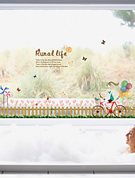 Fashion Tulip Flowers Wall Stickers Florals Plane Wall Stickers Decorative Wall Stickers Girl Bedroom Home Decoration Wall Decal