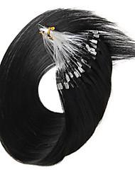 Micro Loop Hair Extensions 100s/Pack 40g-50g Brazilian Virgin Hair 100% Remy Human Hair Straight Micro Loop Ring Hair Extensions