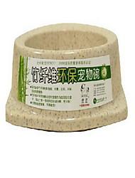 Chat Chien Mangeoires Animaux de Compagnie Bols & alimentation Portable Vert Gris Orange Bambou