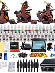tatuagem solong completa tatuagem kit 3 máquinas Pro 40 tintas fonte de alimentação agulhas pedal apertos dicas tk351
