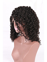 Hot Sale High Quality 7a  Kinky Curly Style Glueless Lace Front Virgin Human Hair With Baby Hair For Black Woman China Supplier