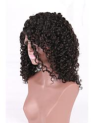 cheia do laço do cabelo humano venda quente de alta qualidade 7a Kinky estilo encaracolado glueless virgem com cabelo do bebê para o