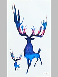 Fashion Tattoo Colours Deer Waterproof Tattoo Stickers