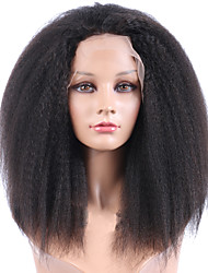 Top Selling Wig African American Front Human Hair Wigs Best Glueless Brazilian Virgin Kinky Straight Lace Front Wigs