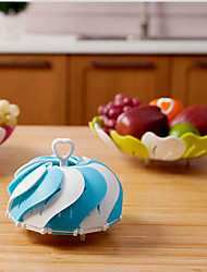 1Pc  Foldable Telescopic Fruit Plate Plastic Fruit Candy Dish Dish Lotus Fruits And Snacks Random Color