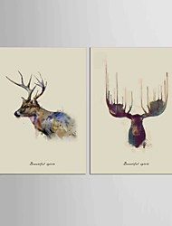 Canvas Set Abstract Animal Classic European Style,Two Panels Canvas Vertical Print Wall Decor For Home Decoration