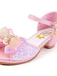 Girl's Sandals Comfort PU Casual Pink Silver Gold Almond